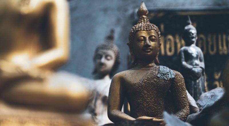 Buddha Statue in der Nahaufnahme
